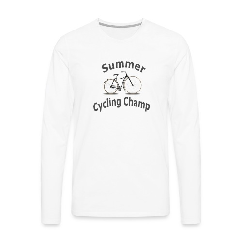 Summer Cycling Champ - Men's Premium Long Sleeve T-Shirt