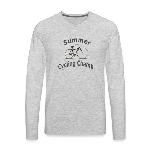 Summer Cycling Champ - Men's Premium Long Sleeve T-Shirt