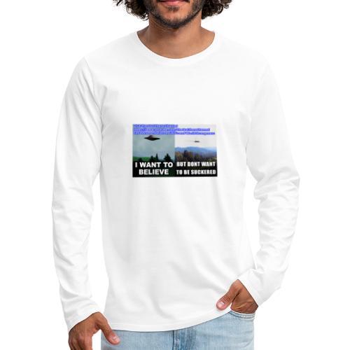 tshirt i want to believe - Men's Premium Long Sleeve T-Shirt