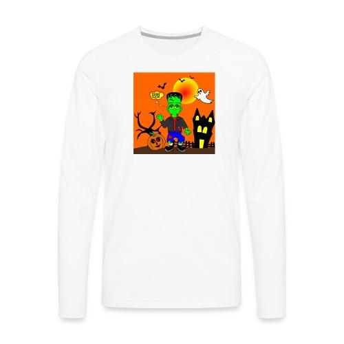 Halloween Frankenstein s Monster - Men's Premium Long Sleeve T-Shirt