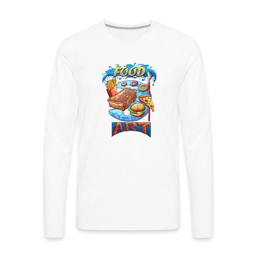 Food Art - Computer Resolution - Men's Premium Long Sleeve T-Shirt