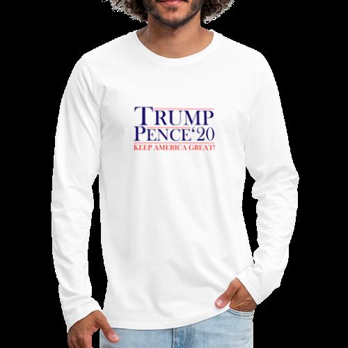 Classic Trump Pence 2020 - Men's Premium Long Sleeve T-Shirt