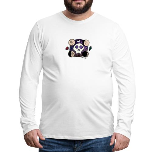 Moon Skull from Outer Space - Men's Premium Long Sleeve T-Shirt