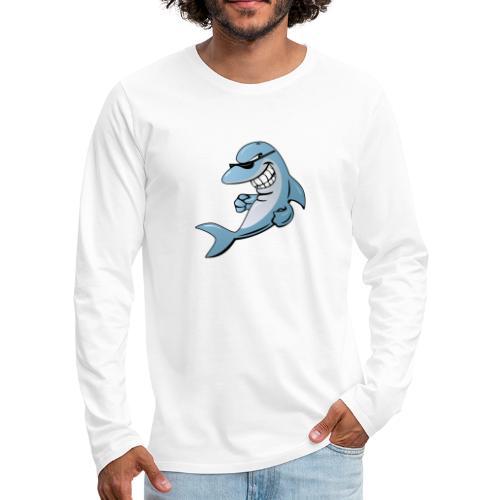 Dolphin Cartoon - Men's Premium Long Sleeve T-Shirt
