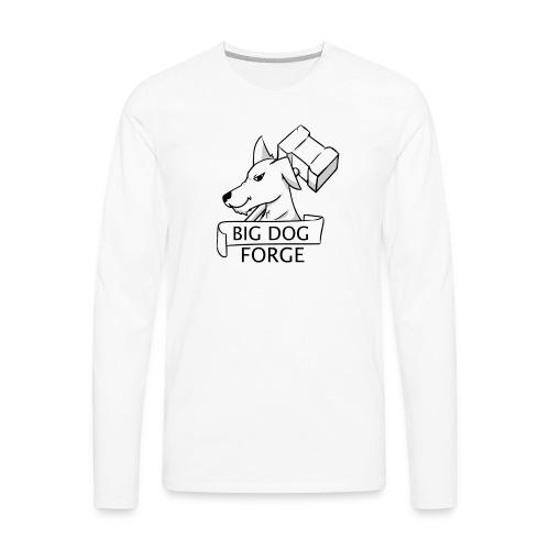 Big Dog Forge [Black] - Men's Premium Long Sleeve T-Shirt