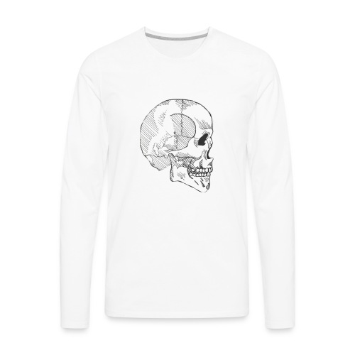 Hashed Skull - Men's Premium Long Sleeve T-Shirt