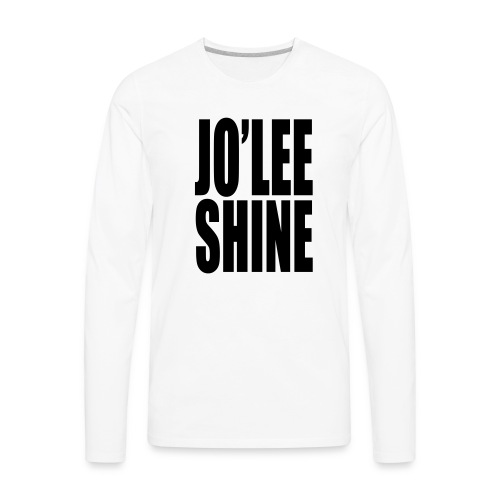 JO'LEE SHINE WOMEN'S T SHIRT WHT/PNK - Men's Premium Long Sleeve T-Shirt
