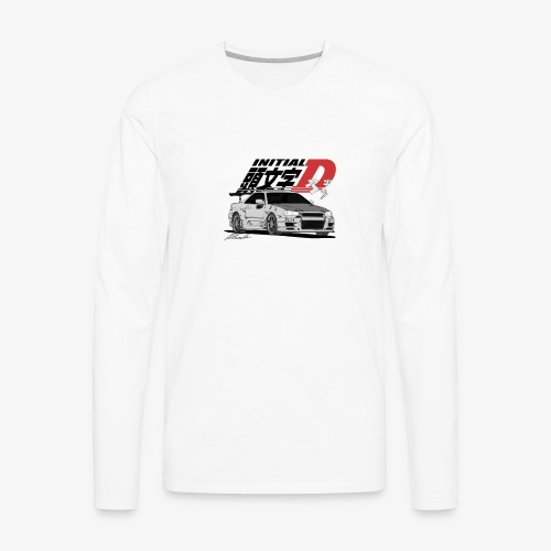 Initial-D Fall Collection: R34 - Men's Premium Long Sleeve T-Shirt