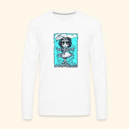 Angel in the Rain Poster - Men's Premium Long Sleeve T-Shirt