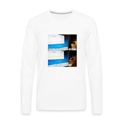 Crypto Lion Buying High and Selling Low - Men's Premium Long Sleeve T-Shirt