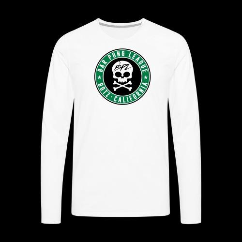 Bar Pong Badge Logo - Men's Premium Long Sleeve T-Shirt