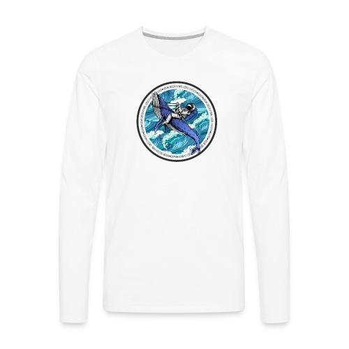 Astronaut Whale - Men's Premium Long Sleeve T-Shirt