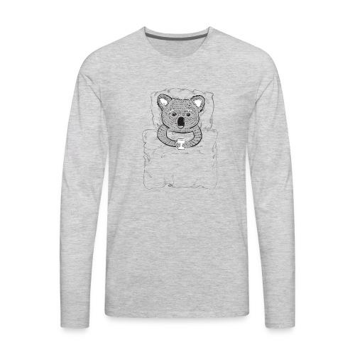 Print With Koala Lying In A Bed - Men's Premium Long Sleeve T-Shirt