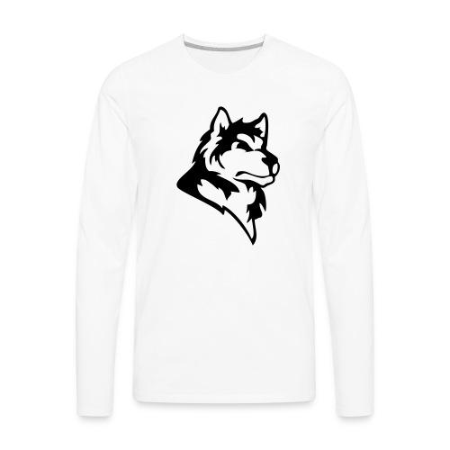 wolf or wolves or huskies custom - Men's Premium Long Sleeve T-Shirt
