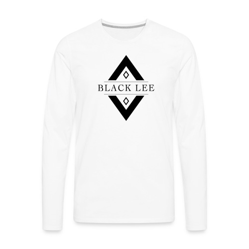 Black Lee Logo Transparent Black - Men's Premium Long Sleeve T-Shirt