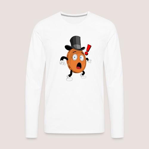 THE SURPRISED PENNY - Men's Premium Long Sleeve T-Shirt