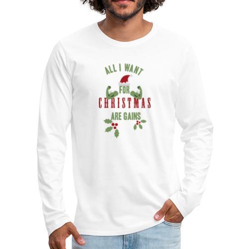 All i want for christmas - Men's Premium Long Sleeve T-Shirt