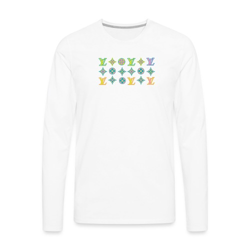 custom coloured LV pattern. - Men's Premium Long Sleeve T-Shirt