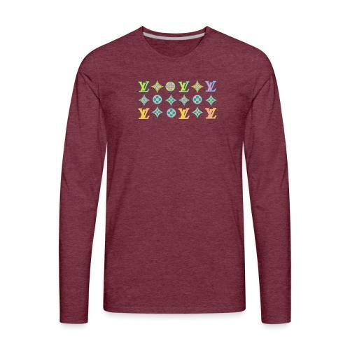 custom coloured LV pattern. - Men's Premium Long Sleeve T-Shirt