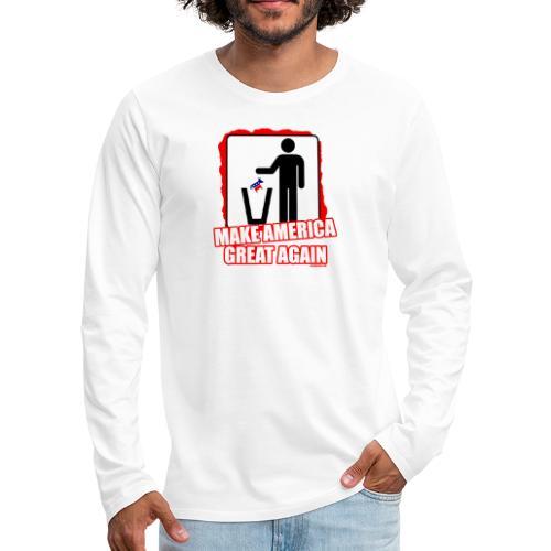 MAGA TRASH DEMS - Men's Premium Long Sleeve T-Shirt