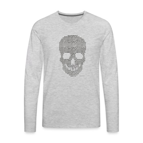 Hacker binary - Mens - Men's Premium Long Sleeve T-Shirt