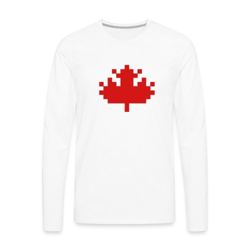 Pixel Maple Leaf - Men's Premium Long Sleeve T-Shirt