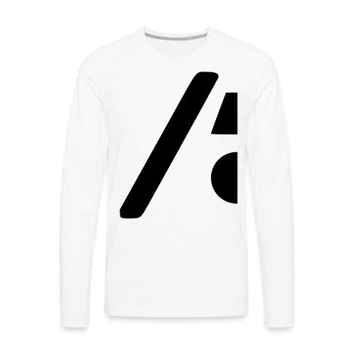 Half the logo, full on style - Men's Premium Long Sleeve T-Shirt