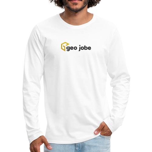 GEO Jobe Corp Logo - Black Text - Men's Premium Long Sleeve T-Shirt