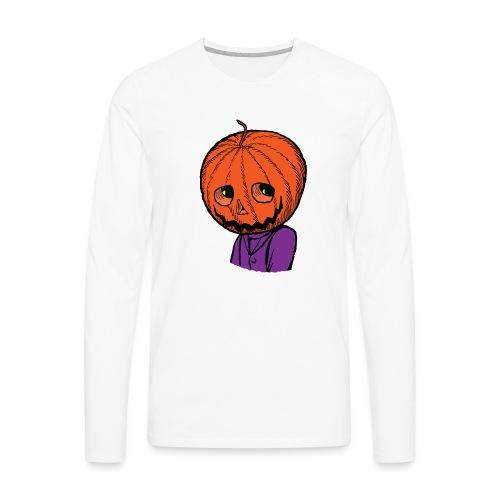 Pumpkin Head Halloween - Men's Premium Long Sleeve T-Shirt