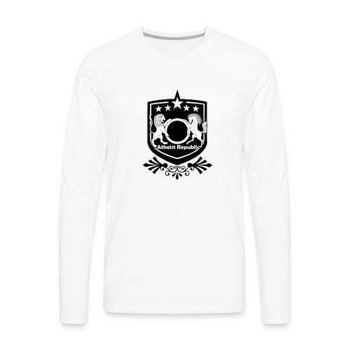 Atheist Republic Logo - Starred Badge - Men's Premium Long Sleeve T-Shirt