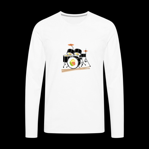 Sushi Roll Drum Set - Men's Premium Long Sleeve T-Shirt