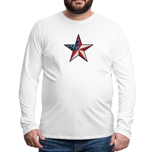 American Patriot Barn Star - Men's Premium Long Sleeve T-Shirt