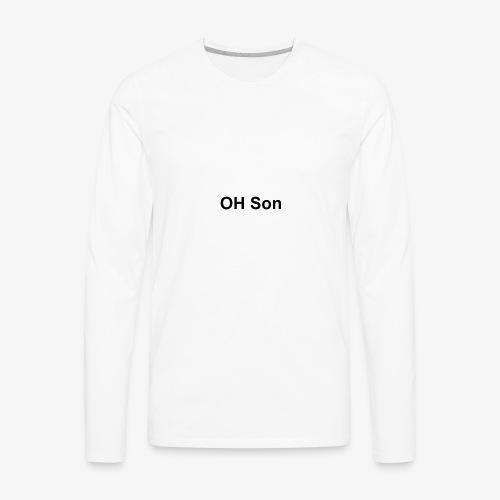 OH SON LOGO - Men's Premium Long Sleeve T-Shirt