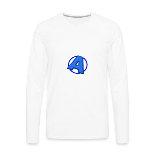 Awesomegamer Logo - Men's Premium Long Sleeve T-Shirt