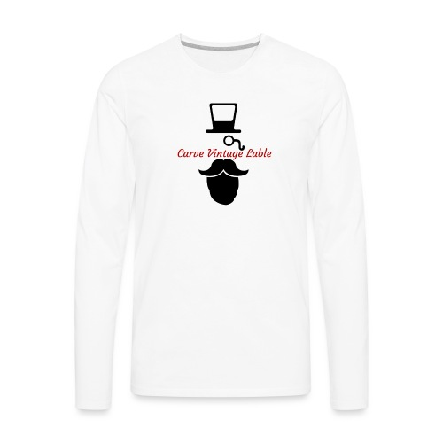 CarveClothingCo. VintageBrand - Men's Premium Long Sleeve T-Shirt