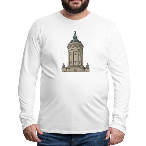 Mannheim water tower - Men's Premium Long Sleeve T-Shirt