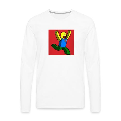 Roblox Noob - Men's Premium Long Sleeve T-Shirt