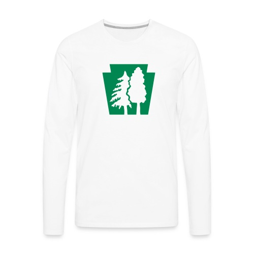 PA Keystone w/trees - Men's Premium Long Sleeve T-Shirt
