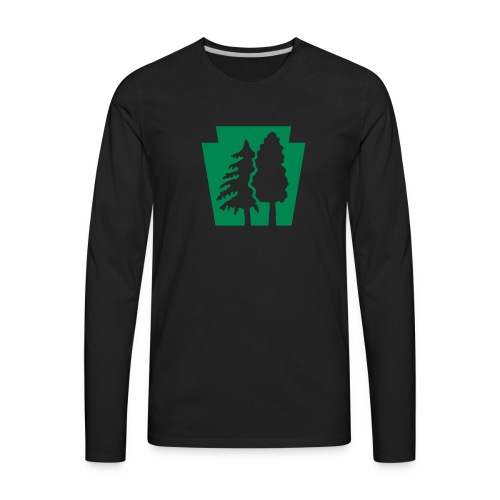 PA Keystone w/trees - Men's Premium Long Sleeve T-Shirt