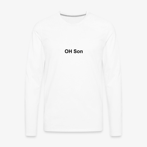 OH SON LOGO - Men's Premium Long Sleeve T-Shirt