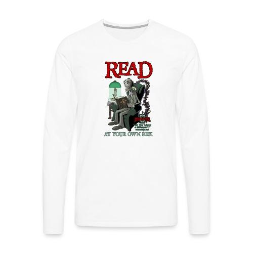 Read At Your Own Risk - Miskatonic U - Men's Premium Long Sleeve T-Shirt