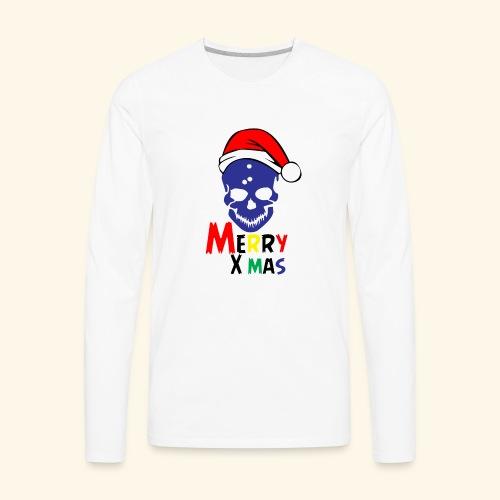 Merry Xmas Skul - Men's Premium Long Sleeve T-Shirt