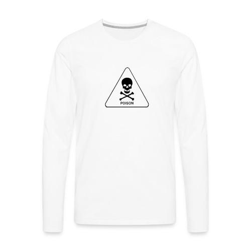 white tox symbol - Men's Premium Long Sleeve T-Shirt