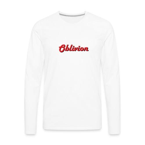 Oblivion Text Design - Men's Premium Long Sleeve T-Shirt