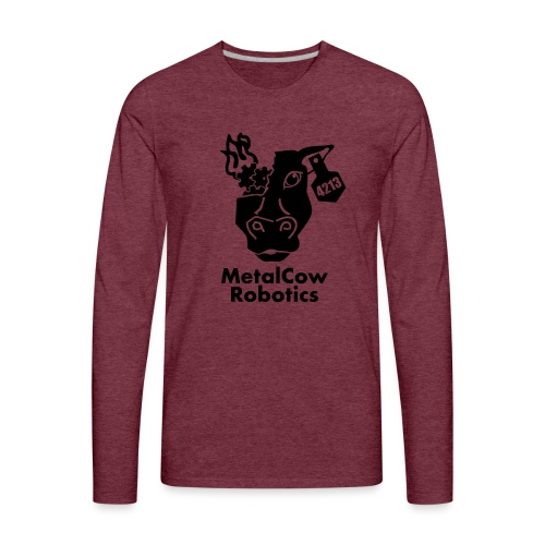 MetalCow Solid - Men's Premium Long Sleeve T-Shirt