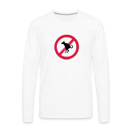 No Dog Poop - Men's Premium Long Sleeve T-Shirt