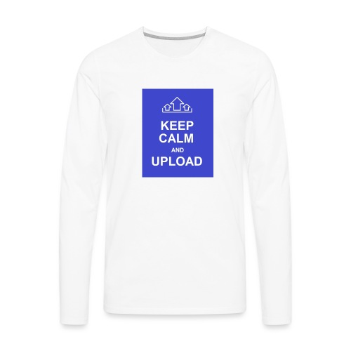 RockoWear Keep Calm - Men's Premium Long Sleeve T-Shirt