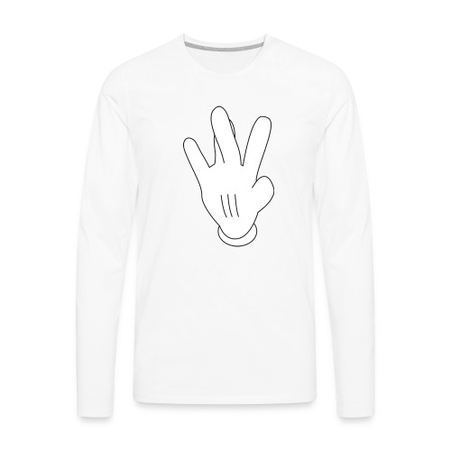 westside mickeymouse hand - Men's Premium Long Sleeve T-Shirt