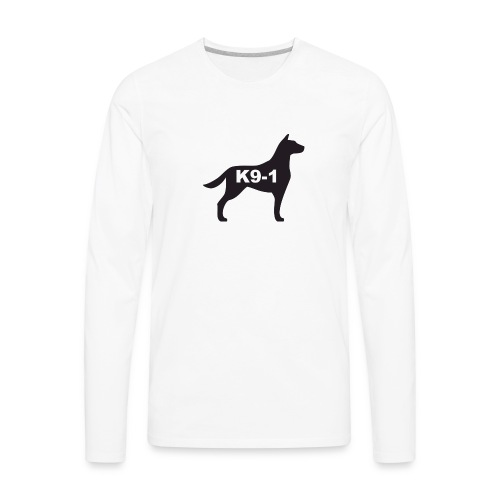 K9-1 logo - Men's Premium Long Sleeve T-Shirt