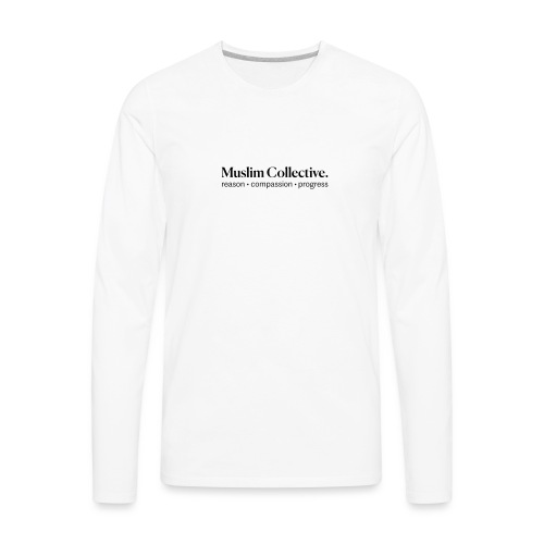 Muslim Collective Logo + tagline - Men's Premium Long Sleeve T-Shirt